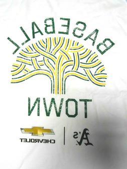 Oakland Athletics A's White Baseball Ball T-shirt Medium 201