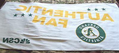 2015 oakland a s athletics beach towel