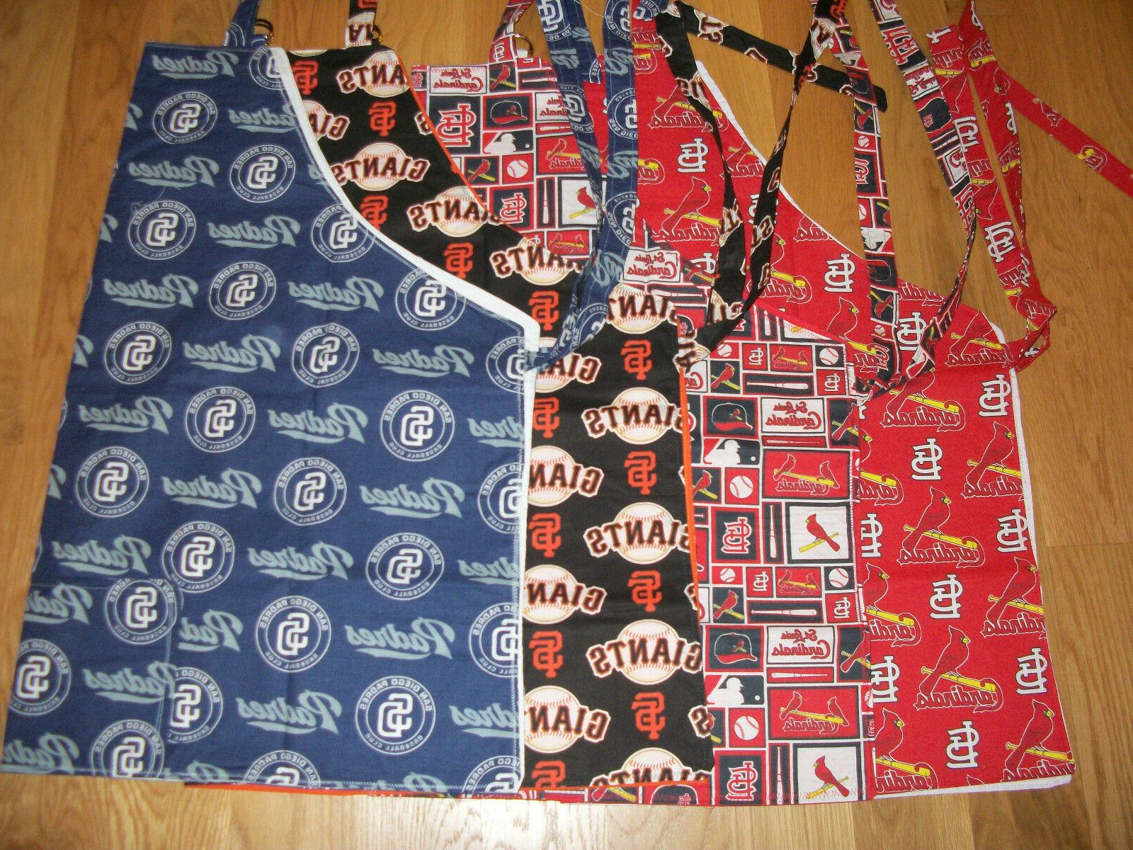 aprons barbeque kitchen sports patterns oakland st
