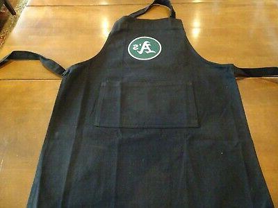 black kids apron monogrammed a s oakland