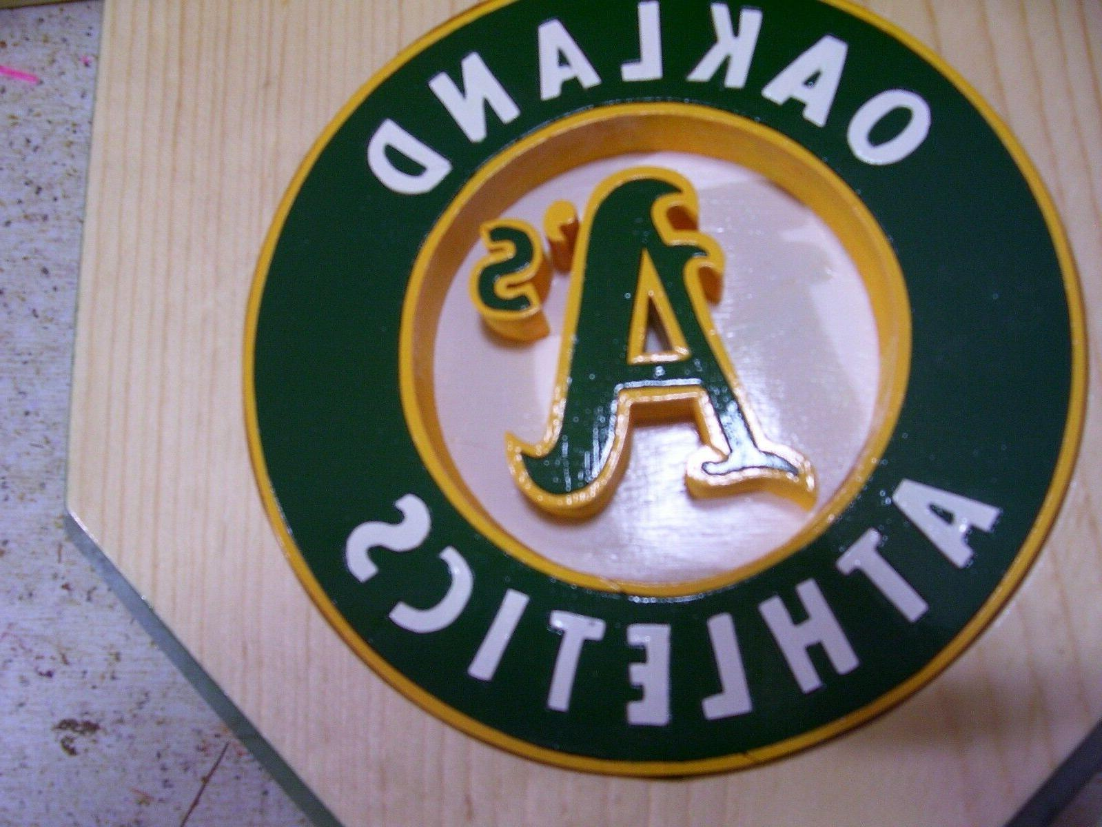 Bobble Oakland A's Home plate shelf display Natural