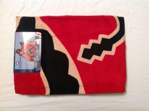 mlb arizona dbacks logo cotton beach towel