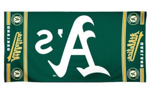 mlb oakland athletics beach towel