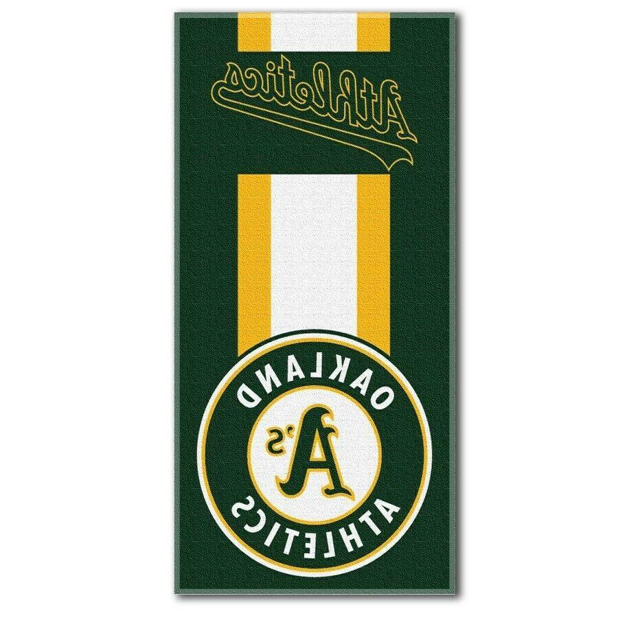 oakland athletics zone read beach towel 30