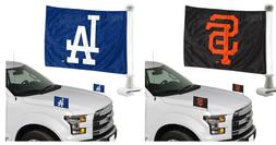 MLB 2-pack Ambassador Car Hood Flags Two Sided
