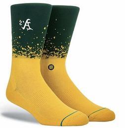 STANCE MLB Oakland Athletics Stadium Fade Green Yellow Crew