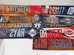 "MLB Vinyl Street Signs. 3-3/4"" x 16"". Licensed. You pick the"