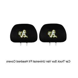 New Team ProMark MLB Oakland Athletics Head Rest Covers For