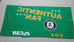 Oakland A's Athletics CSN Authenitc Fan Friday Beach Towel 2