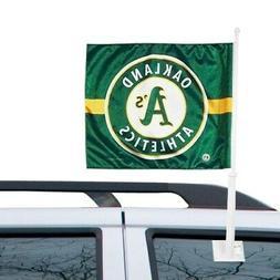 WinCraft Oakland Athletics 11'' x 13'' Two-Sided Car Flag -