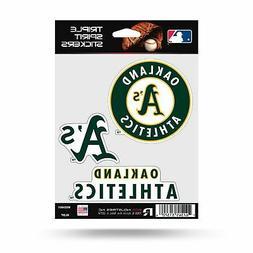 Oakland Athletics A's Triple Sticker Multi Decal Spirit Shee