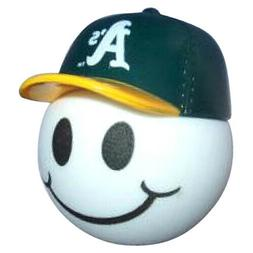 Oakland Athletics Baseball Cap Head Car Antenna Ball / Deskt
