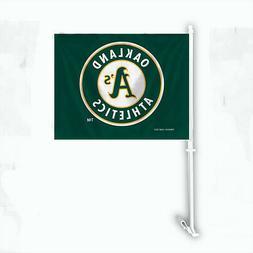 Oakland Athletics Car Flag with Pole  MLB Auto Truck Tailgat