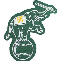 Oakland Athletics Elephant On Ball Sleeve Patch Jersey MLB L