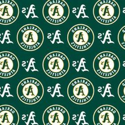 Oakland Athletics Green MLB Baseball Sports Team Cotton Fabr