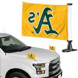 Oakland Athletics MLB Ambassador Car Flag Hood / Trunk 2 Pie