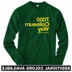Oakland Baseball Stadium Long Sleeve T-shirt - LS Men S-4X -
