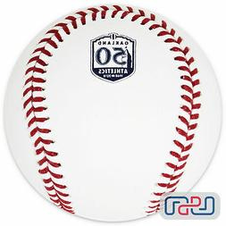 Oakland Athletics 50th Anniversary Official MLB Rawlings Bas