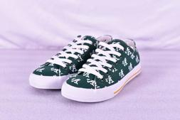 Unisex Row One Oakland Athletics Lace Up Low Top Shoes, Gree